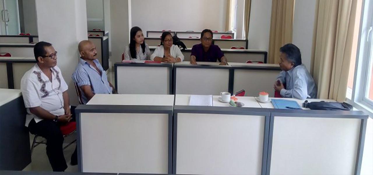 Kunjungan dari Badan penelitian dan Pengembangan Hukum dan HAM Republik Indonesia di Fakultas Hukum Universitas Warmadewa