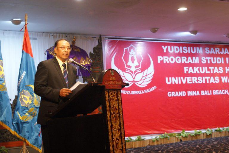 Pembukaan Yudisium Sarjana LIX oleh Dekan Fakultas Hukum Universitas Warmadewa