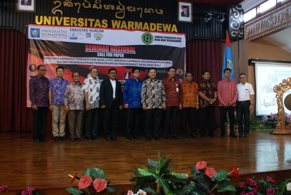 Peran LPD Dalam Meningkatkan Perekonomian Desa Adat Menjadi Tema Seminar Nasional FH Unwar.