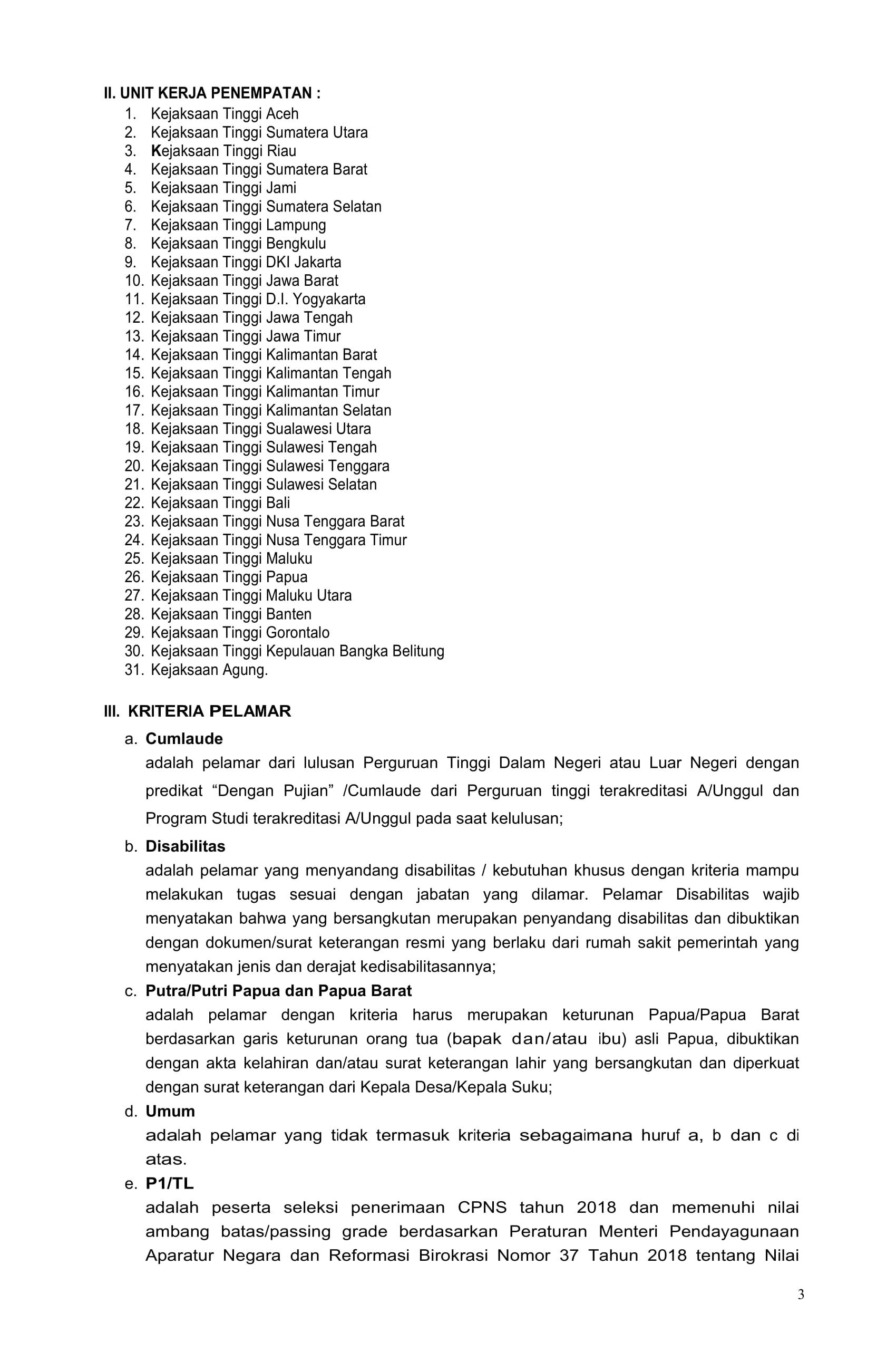 Pengumuman Pengadaan Cpns Kejaksaan Ri 2019 03 Fakultas Hukum Warmadewa